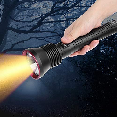 Antorcha eléctrica Linterna de buceo resistente a la abrasión para acampar Buceo Senderismo Caza