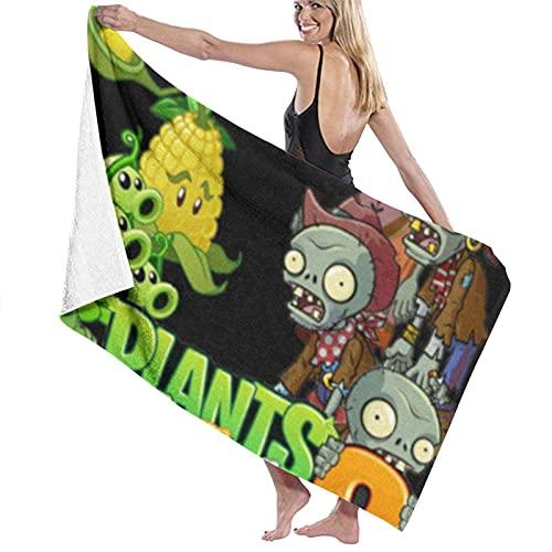 XCNGG Asciugamano da bagno, 80X130 cm Piante contro zombi Asciugamani da bagno Asciugamani da bagno super assorbenti da spiaggia per palestra Spiaggia SWM Spa