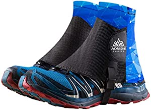 TRIWONDER Reflective Trail Gaiters Running Gaiters Low Ankle Gators with UV Protection for Men Women (Blue)