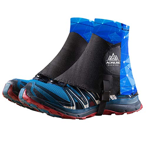 TRIWONDER Reflektierende Gamaschen, Trail Low Gaiters, Running Gamaschen mit UV-Schutz für Damen und Herren (Blau)