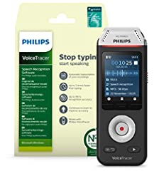 Philips Voicetracer DVT2810 Ljudinspelare med Dragon Taligenkänning Software för Windows