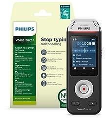 Philips Voicetracer DVT2810 Audio Recorder met Dragon Speech Recognition Software voor Windows*
