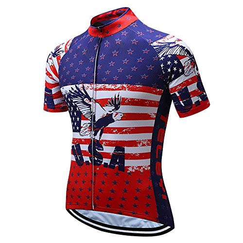 JPOJPO - Maillot de ciclismo para hombre -  -  pecho 44.9/47.2'/cintura29/37'/etiqueta 3XL