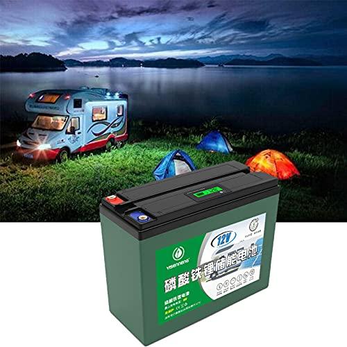 Bateria Solar Portatil, 12V 36AH 2000+ Ciclos Vida útil de 5 Años Carga Solar LiFePO4 Batería de Ciclo Profundo para RV Cámping Caravana Solar Bote Inicio Almacenamiento,12v 36ah,4pcs
