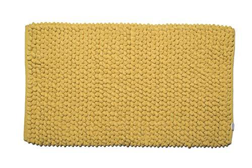 Croydex Professional Uni weiß Textil-Duschvorhang mit Hygiene 'N' Clean, Textil, gelb, 1 x 50 x 80 cm