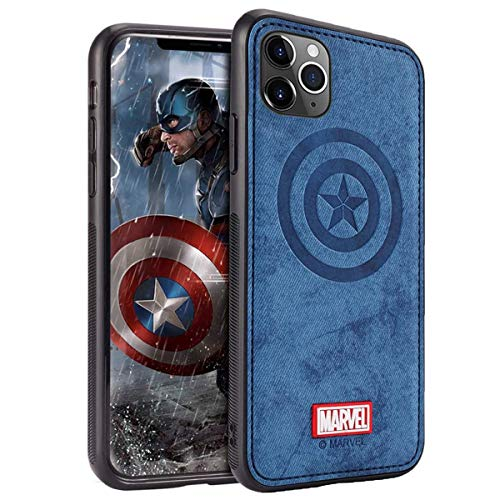 Marvel Avengers iPhone 11 Pro Max Case, Captain America (Blue)