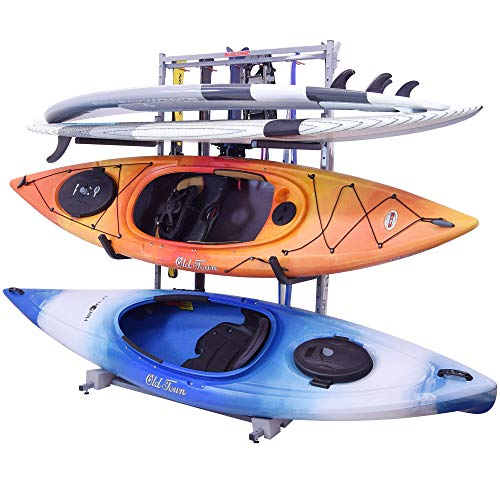 Malone Racks FS Rack 2 Kayak, 2 SUP, 6 Ski Storage Rack