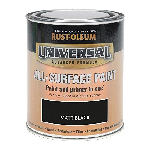 Rust-Oleum RO0030302F1 250 ml Universal Paint - Matt Bl