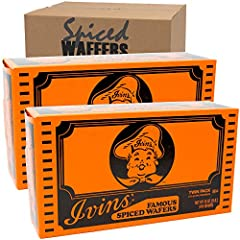 Famous Ivins spiced wafers. Pack includes 2 boxes of 16oz (1 lb) each. Total of 32oz (2 lb)
