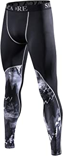 saraca core Men's Compression Pants Running Tights Athletic Leggings Thermal Baselayer