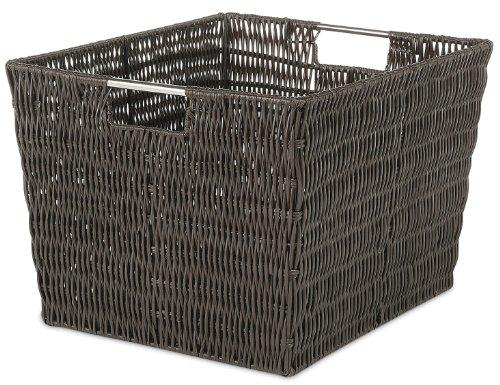 Whitmor Rattique Storage Tote Basket - Espresso
