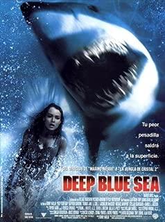 Deep Blue Sea Movie Poster (27 x 40 Inches - 69cm x 102cm) (1999) Spanish -(Saffron Burrows)(Samuel L. Jackson)(Thomas Jane)(L.L. Cool J.)(Jacqueline McKenzie)(Michael Rapaport)