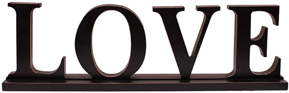 Wooden 3D Letters Home Decoration Wedding Table Bookcase Bookstand Shelf Stand Sign LOVE Ornament Wood Rustic Home Decor