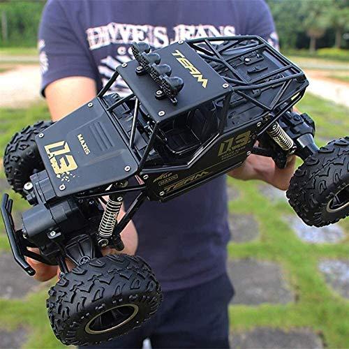 Nixi888 Mando a distancia de 2,4 GHz para coche 4 WD todoterreno Maxi-.4 GHz para vehículos todoterreno, recargable, mando a distancia buggy, camión para niños, regalo (color: negro, tamaño: 2 pilas)
