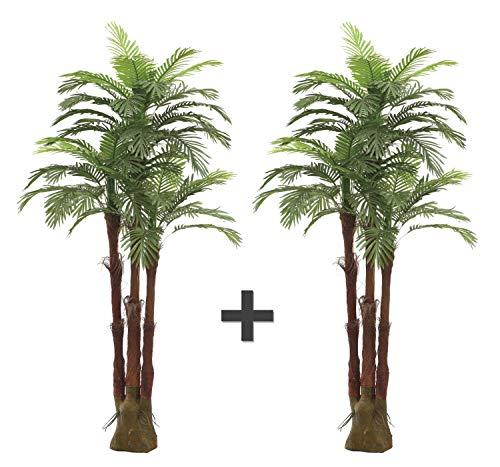 AMERIQUE Pair Gorgeous 6 Feet Triple Tropical Palm Artificial Plant