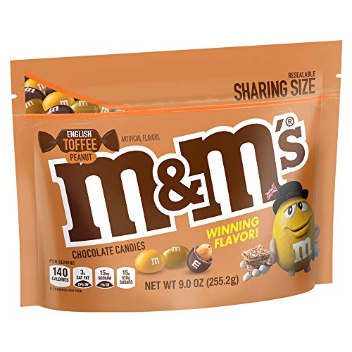 M&M's English Toffee Peanut Chocolate Candy - 9oz