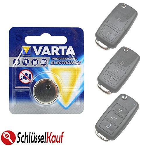 Autoschlüssel Batterie kompatibel für VW Golf Jetta Passat Polo Tiguan Up Seat Skoda