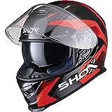 Shox Assault Evo Sector Motorcycle Helmet L Red