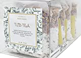 Tub Tea Natural & Organic Floral with Bath Salts- Handmade Herbal Soak for Relaxation & Muscle Relief! Self Soothing Bath Treatment! These Tub Tea Herbal Bath Bags Make Great Gifts! (Gift Pack of 5)