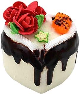 3 st simuleringsmodell av hjärtformade blommor kaka lek leksak kök dekoration