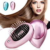Electric Ionic Hairbrush, Luckyfine Mini Hair Brush Comb Massager, Electric Vibration Hair Scalp Massager Brush, Anti-Static Ionic Hair Brush, Perfect Hair Scalp Treatments, Detangling Hair Brush