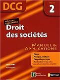 Droit des sociétés Epreuve 2 - DCG - Manuel et applications