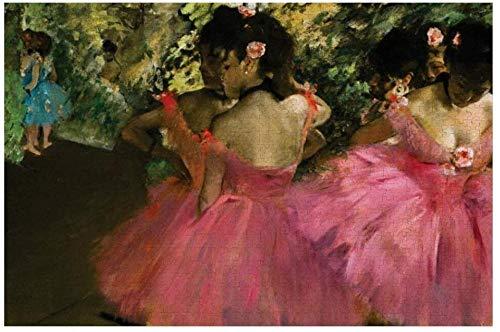 votgl Ballerinas In Pink by Edgar Degas JigsawPuzzle Juego deRompecabezas de Puzzle 1000 PiezasObra de Arte para Adultos, Adolescentes, niños, niños