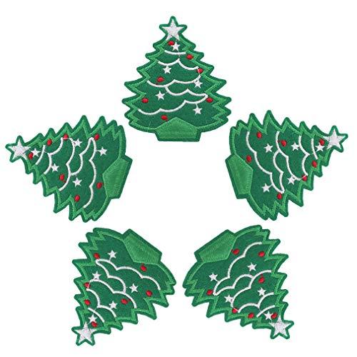 CAVIVIUK 100 parches de Navidad para árbol de Navidad, Papá Noel, muñeco...