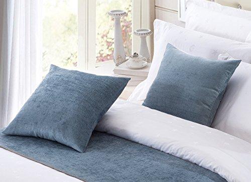 OSVINO Juego de 2 fundas de almohada de chenilla de estilo europeo de color sólido de 50 x 50 cm, para el hogar, hotel,...