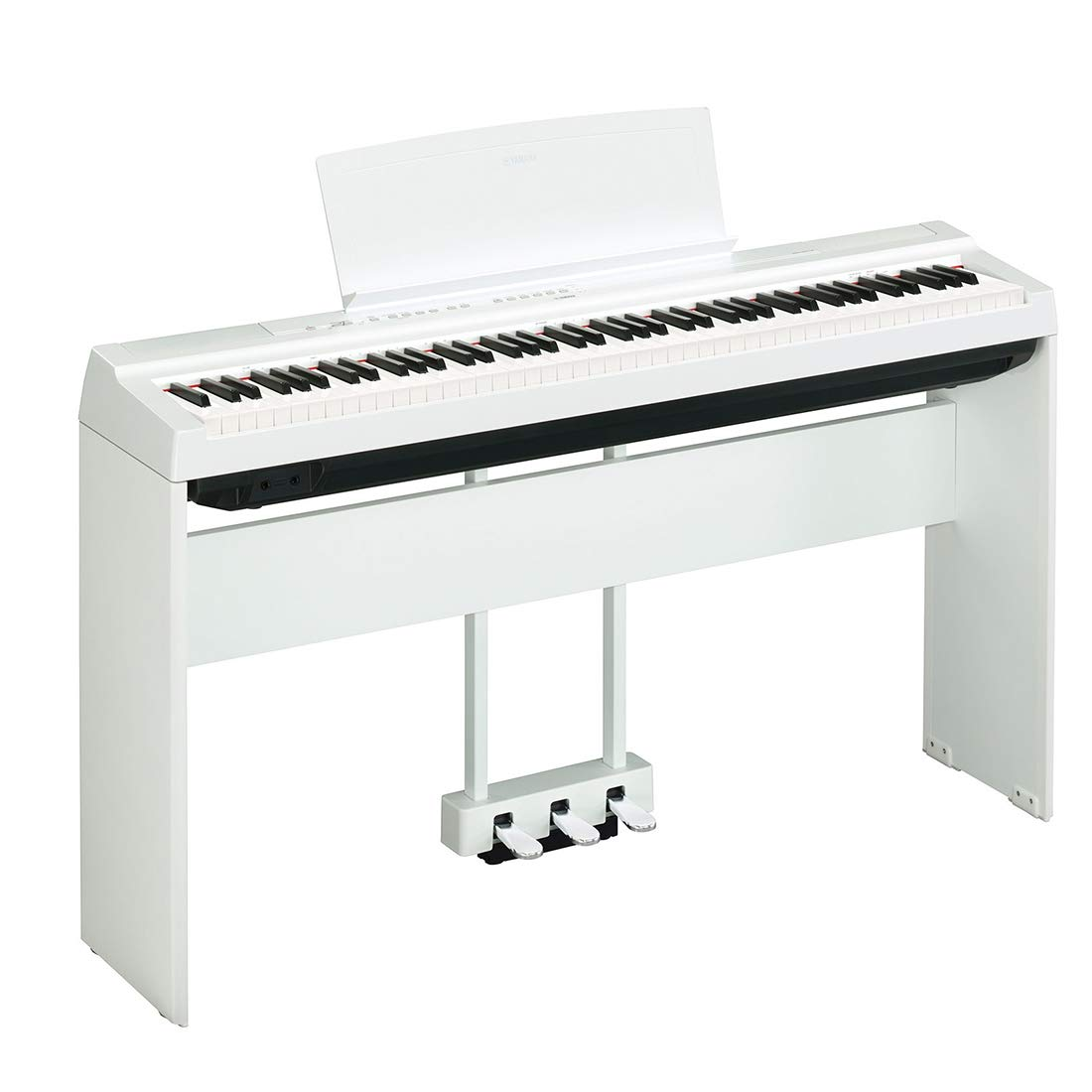 ヤマハヤマハエレクトリックピアノニューP125アダルト88キーハンマーデジタル電子ピアノP115アップグレードスマートエレクトリックピアノニューP-125ホワイトホスト+木製スタンド+スリーペダル(Amazon自作商品、サプライヤーによって配布されています)