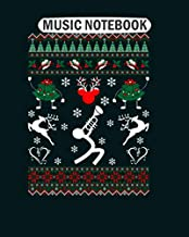 Music Notebook: guitarist heartbeat  Music Sheet- 50 sheets, 100 pages - 8 x 10 inches