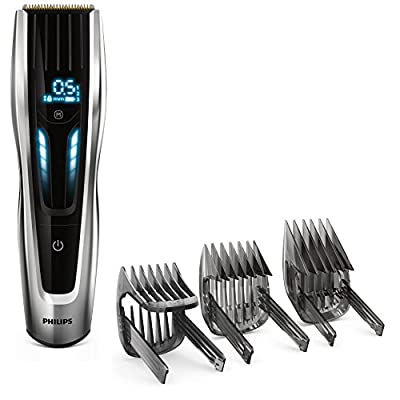 Philips Hair Clippers, Series 9000, Ultimate Precision Hair Clipper with Self-Sharpening Titanium Blades, Corded and Cordless Use, UK 3-Pin Plug - HC9450/13 by Philips