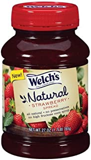 Welch's, Natural Strawberry Spread, 27oz Jar (Pack of 2)