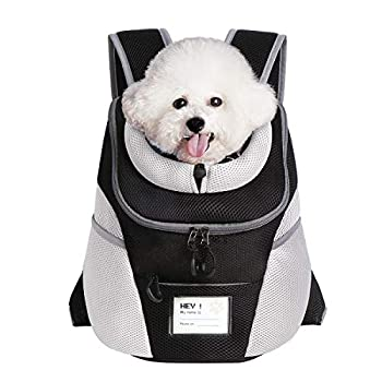 ENNEFU Comfortable Dog Cat Carrier Backpack Puppy Pet Front Pack with Breathable Head Out Design and Padded Shoulder for Hiking Outdoor Travel  Recommend Weight from 7.0 to 10.0 lbs