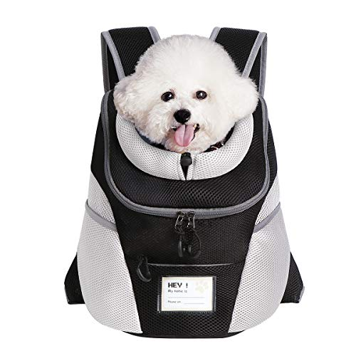 ENNEFU Comfortable Dog Cat Carrier Backpack Puppy Pet Front Pack with Breathable Head Out Design and Padded Shoulder for Hiking Outdoor Travel (Recommend Weight from 7.0 to 10.0 lbs)