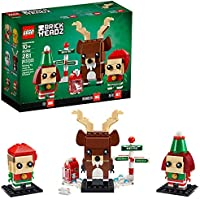281-Pieces LEGO Brickheadz Reindeer, Elf and Elfie 40353 Building Toy