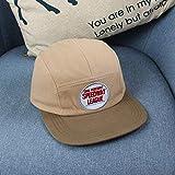 wtnhz Artículos de Moda Sombreros para niños Primavera y Verano Fino Hip-Hop Americano Moderno Hip-Hop Gorra de béisbol Plana Bordado Sombrero para el Sol para niños en inglésRegalo de Vacaciones