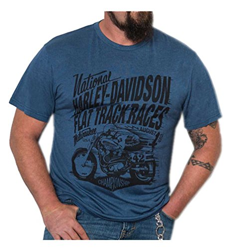 HARLEY-DAVIDSON Mens Speed Racer Premium Short Sleeve T-Shirt, Ensign Blue (3XL)