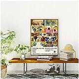 Shmjql Cartel De Arte De Pared Abstracto Pintura De Impresión Vintage Cuadros Lienzo Pintura Pared Decoración del Hogar -50X70Cmx1 Sin Marco