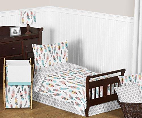 Feather 5pc Girls Toddler Kids Childrens Bedding Comforter Sheet Set