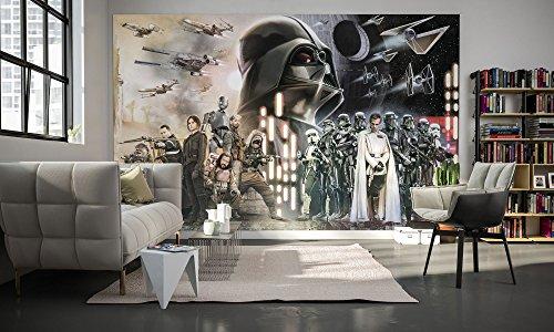 Komar - Star Wars - Vlies Fototapete COLLAGE - 400 x 250 cm - Tapete, Wand Dekoration, Rebellen, Darth Vader - 028-DVD4