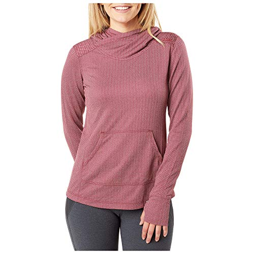 5.11 Tactical Series Pull Aphrodite Hooded Pullover à Capuche Femme, Code Red HB, FR : L (Taille Fabricant : L)