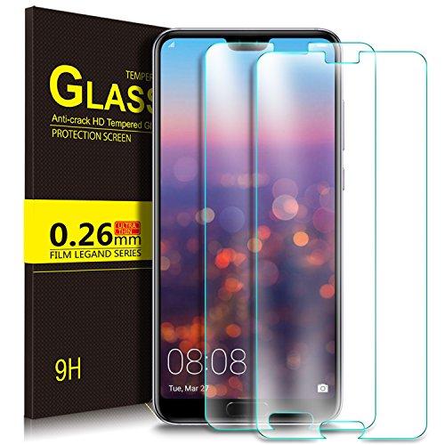 KuGi. Huawei P20 Schutzfolie, 9H Panzerglas Hartglas Glas Display Schutzfolie [Blasenfrei] [HD Ultra] Displayschutzfolie Displayschutz Für Huawei P20 Smartphone. Klar [2 Pack]