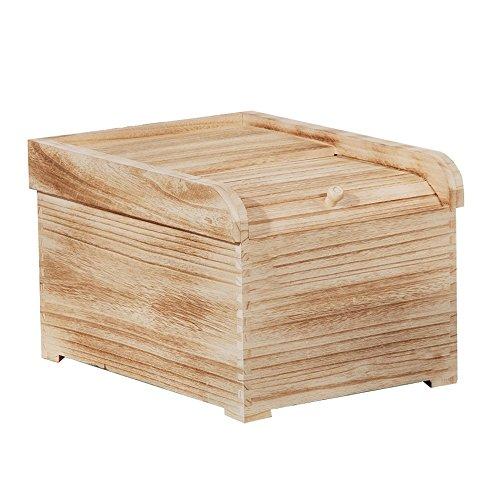 ZWL Boîte de rangement de grain, Boîte de riz en bois solide Boîte de rangement de céréales Pest Control Préservation de l'humidité Préservation de la cuisine Ménage Grain Storage Box 36 * 28.5 * 23.5CM Récipient sain de stockage de céréales ( Couleur : #2 )