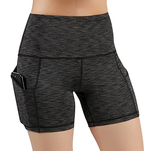 ODODOS High Waist Out Pocket Yoga Short Tummy Control Workout Running Athletic...