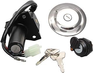 Motorcycle Ignition Switch Seat Lock Key Fuel Gas Cap Set for Yamaha YBR125 YBR 125 2002-2013