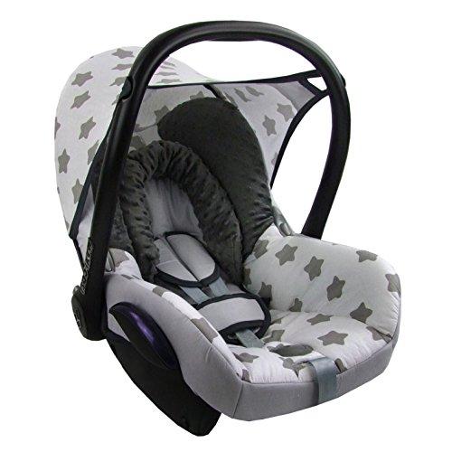 BAMBINIWELT Ersatzbezug für Maxi-Cosi CabrioFix 6-tlg, MINKY MB 1, Bezug für Babyschale, Komplett-Set XX