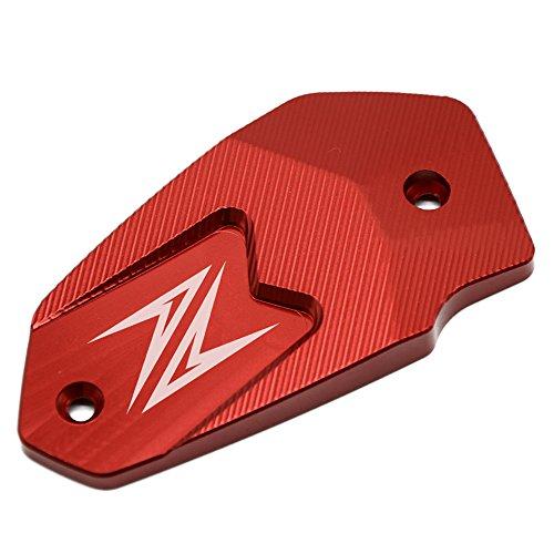 Motocicleta Tapa del Depósito del Líquido de Frenos Delantero para Kawasaki Z900 2017 Z800 2013-2016 Z650 2017 Versys 650 2007-2017 ER6N 2009-2016 ER6F 2009-2016 Ninja 650 (Rojo)
