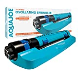 Aqua Joe SJI-TLS18 3-Way Turbo Oscillation Lawn Sprinkler, w/Range, Width, Flow...