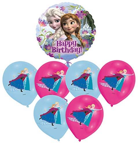 Libetui Kindergeburtstag Deko Luftballons 'Eiskönigin' Kinder Geburtstag Dekoration Set Happy Birthday Deko-Luftballon Frozen Balloons